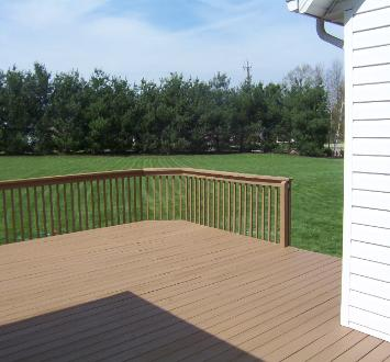 Deck Staining using Flood stain