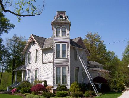 Historical House in Portage County where there was alot of painting and staining done.