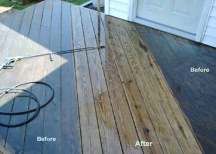 deck pressure washing and cleaning Wood restoration Cleveland Ohio