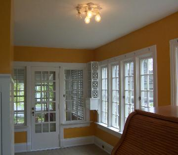 After painting sunroom in Canton Ohio